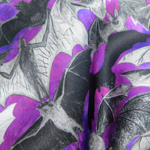 Load image into Gallery viewer, Chiroptera Bat Print Silk Scarf