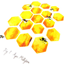 Load image into Gallery viewer, Mellifera Honeybee Art Print