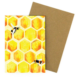 Mellifera Honeybee Greetings Card