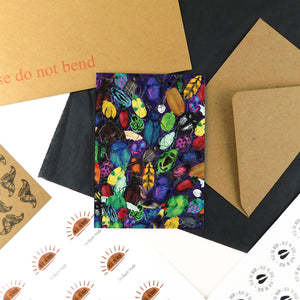 Coleoptera Beetle Greetings Card