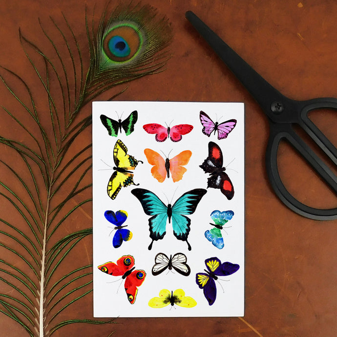 Lepidoptera Butterfly Temporary Tattoos