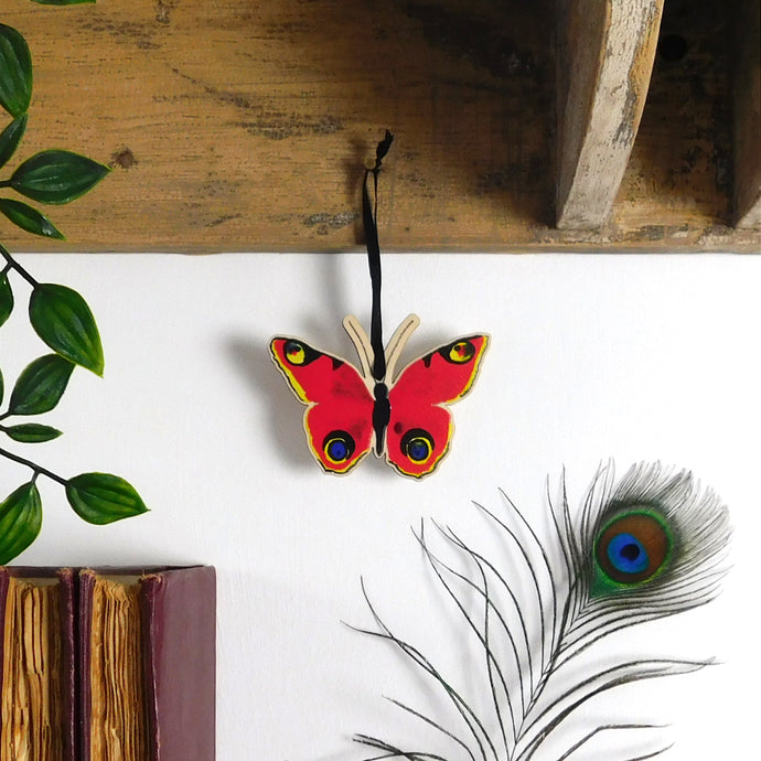 Lepidoptera Butterfly Wooden Hanging Decoration