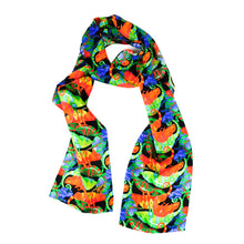 Load image into Gallery viewer, Camouflage of Chameleons Print Silk Amelia Aviator Scarf