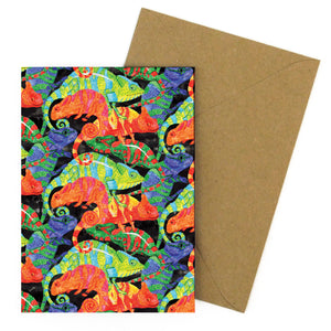 Camouflage of Chameleons Greetings Card