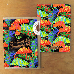 Camouflage You Turn Me Chamele on Greetings Card