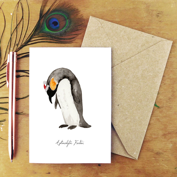 Waddle Emperor Penguin Christmas Card