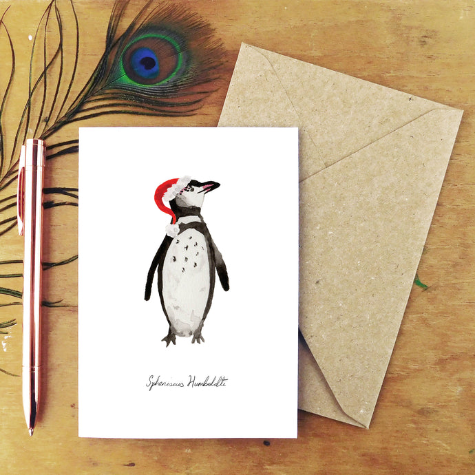 Waddle Humboldt Penguin Christmas Card