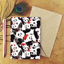 Load image into Gallery viewer, Embarrassment of Christmas Pandas Greetings Card