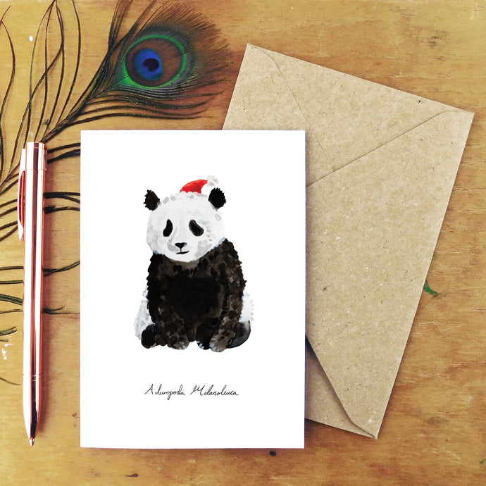 Embarrassment Christmas Giant Panda Greetings Card