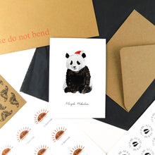 Load image into Gallery viewer, Embarrassment Christmas Giant Panda Greetings Card