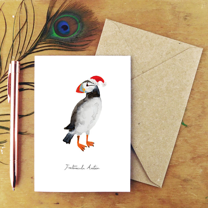 Improbability Atlantic Puffin Christmas Card