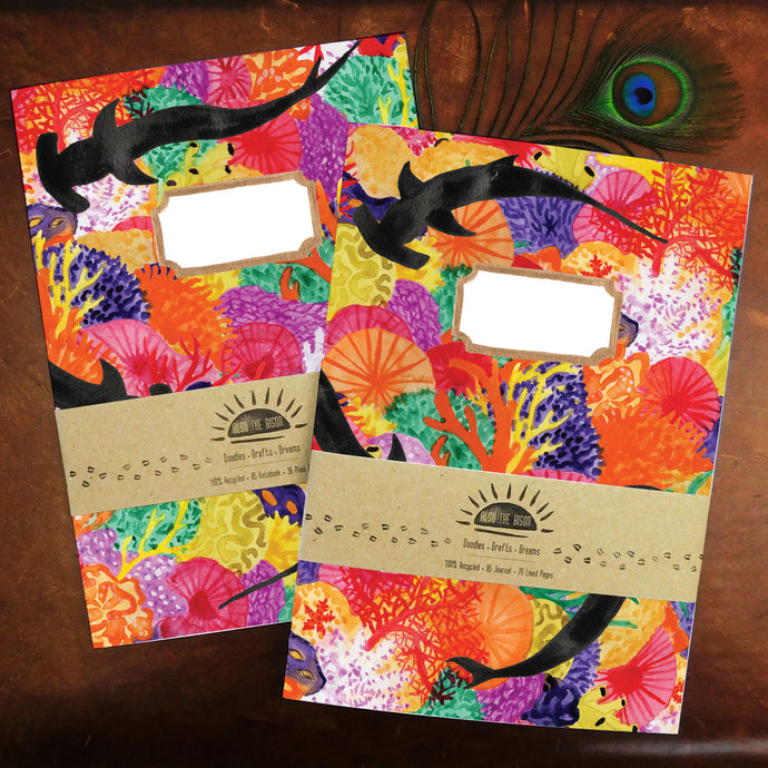 Anthozoa Coral Reef Print Journal and Notebook Set