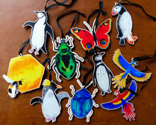 Load image into Gallery viewer, Waddle Macaroni Penguin Wooden Hanging Decoration