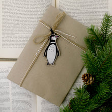 Load image into Gallery viewer, Waddle Humboldt Penguin Wooden Hanging Decoration