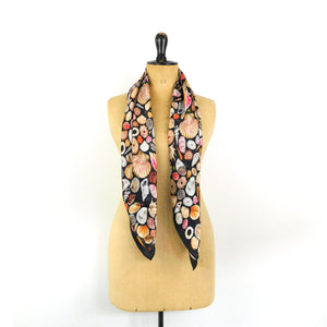 Mollusca Sea Shell Print Silk Scarf
