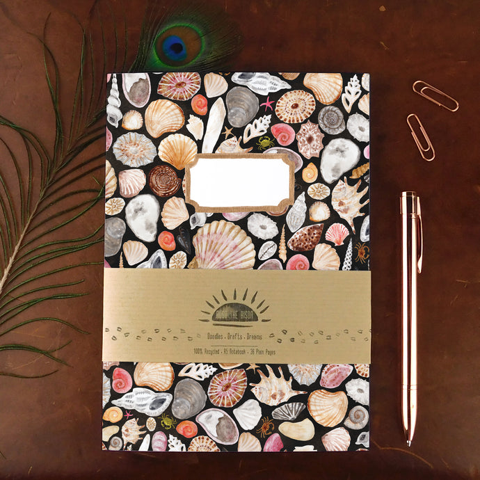 Mollusca Sea Shell Print Notebook