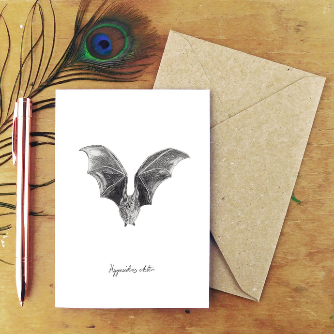 Chiroptera Dusky Leaf-Nosed Bat Greetings Card