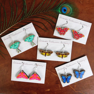 Atlas Moth Earrings