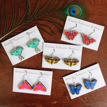 Load image into Gallery viewer, Rosy Maple Moth Earrings