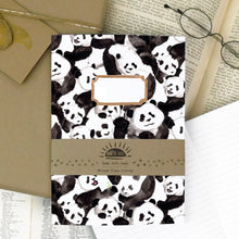 Load image into Gallery viewer, Embarrassment of Pandas Print Lined Journal