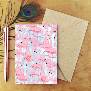 Flamboyance of Flamingos Greetings Card