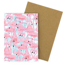 Load image into Gallery viewer, Flamboyance of Flamingos Greetings Card
