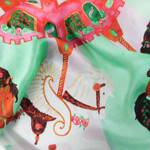 Load image into Gallery viewer, Le Carrousel du Printemps Print Silk Scarf