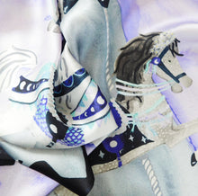 Load image into Gallery viewer, Le Carrousel de la Lune Print Silk Scarf