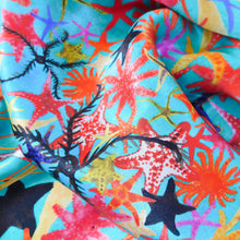 Load image into Gallery viewer, Asterozoa Print Silk Scarf