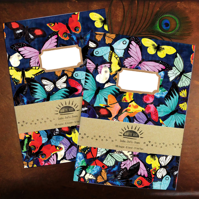 Lepidoptera Butterfly Print Journal and Notebook Set