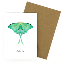 Load image into Gallery viewer, Luna Moth Greetings Card