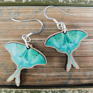 Luna Moth Earrings