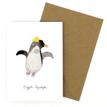 Load image into Gallery viewer, Waddle Macaroni Penguin Greetings Card