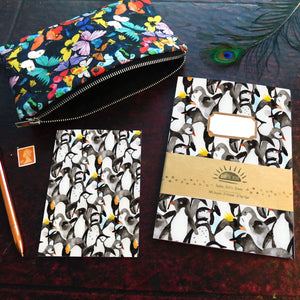 Waddle of Penguins Print A5 Recycled Notebook
