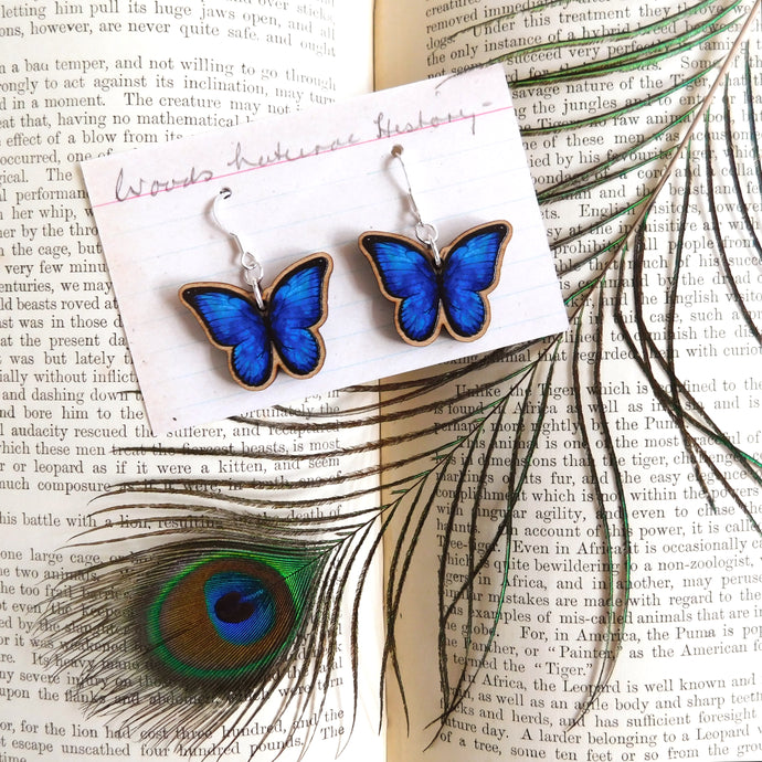 Morpho Butterfly Earrings