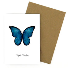 Load image into Gallery viewer, Morpho Butterfly Greetings Card