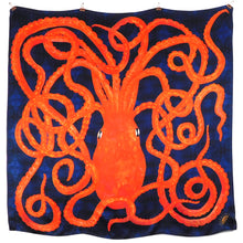 Load image into Gallery viewer, Octopoda Octopus Print Silk Scarf