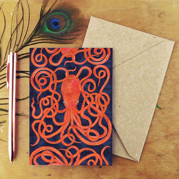 Octopoda Octopus Greetings Card
