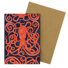 Load image into Gallery viewer, Octopoda Octopus Greetings Card