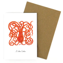 Load image into Gallery viewer, Octopus Greetings Card