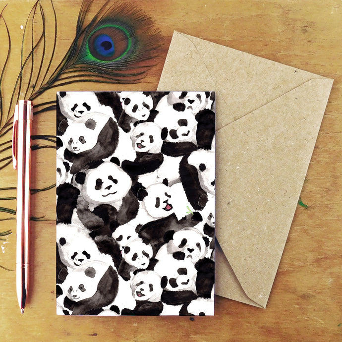 Embarrassment of Pandas Greetings Card