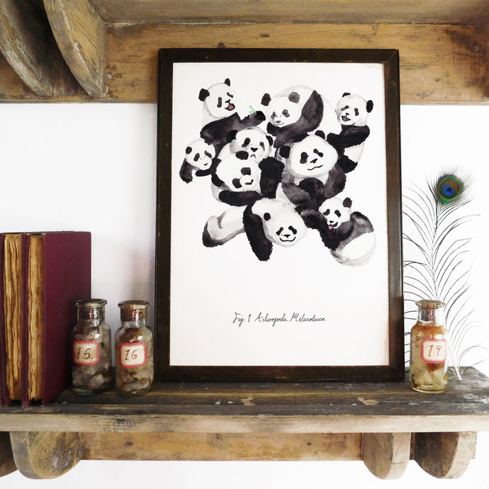 Embarrassment of Pandas Art Print
