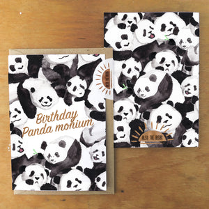Embarrassment Panda monium Birthday Greetings Card