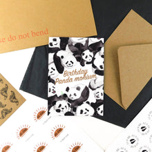 Load image into Gallery viewer, Embarrassment Panda monium Birthday Greetings Card