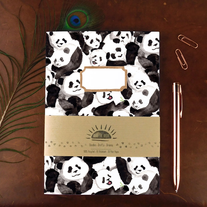 Embarrassment of Pandas Print Notebook