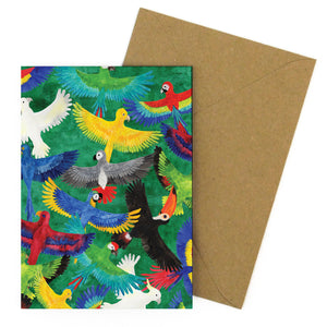 Psittacidae Parrot Greetings Card