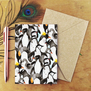 Waddle of Penguins Greetings Card