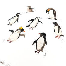 Load image into Gallery viewer, Waddle of Penguins Art Print