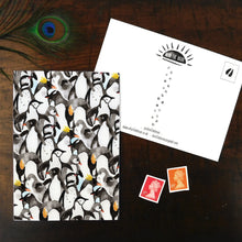 Load image into Gallery viewer, Waddle of Penguins Print Postcard