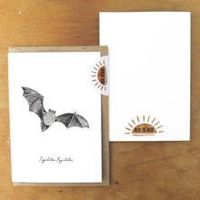 Load image into Gallery viewer, Chiroptera Pipistrelle Greetings Card